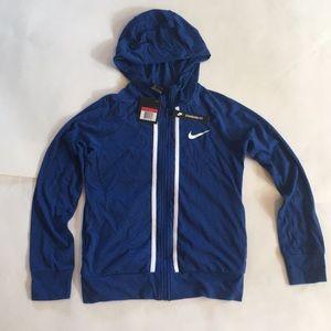 New Nike Girls NSW Full Zipp Light Hooded Jersey